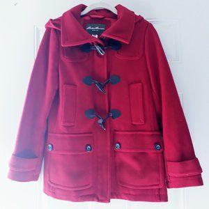 Eddie Bauer Wool Blend Winter Pea Coat Sz XSP